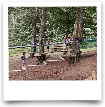 Nouveau parcours accrobranche pour enfants dans les arbres